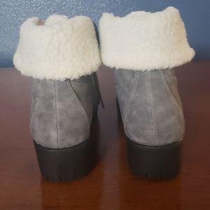 Chase + Chloe Shoes - Chase + Chloe Madigan Faux Shearling Combat Boot